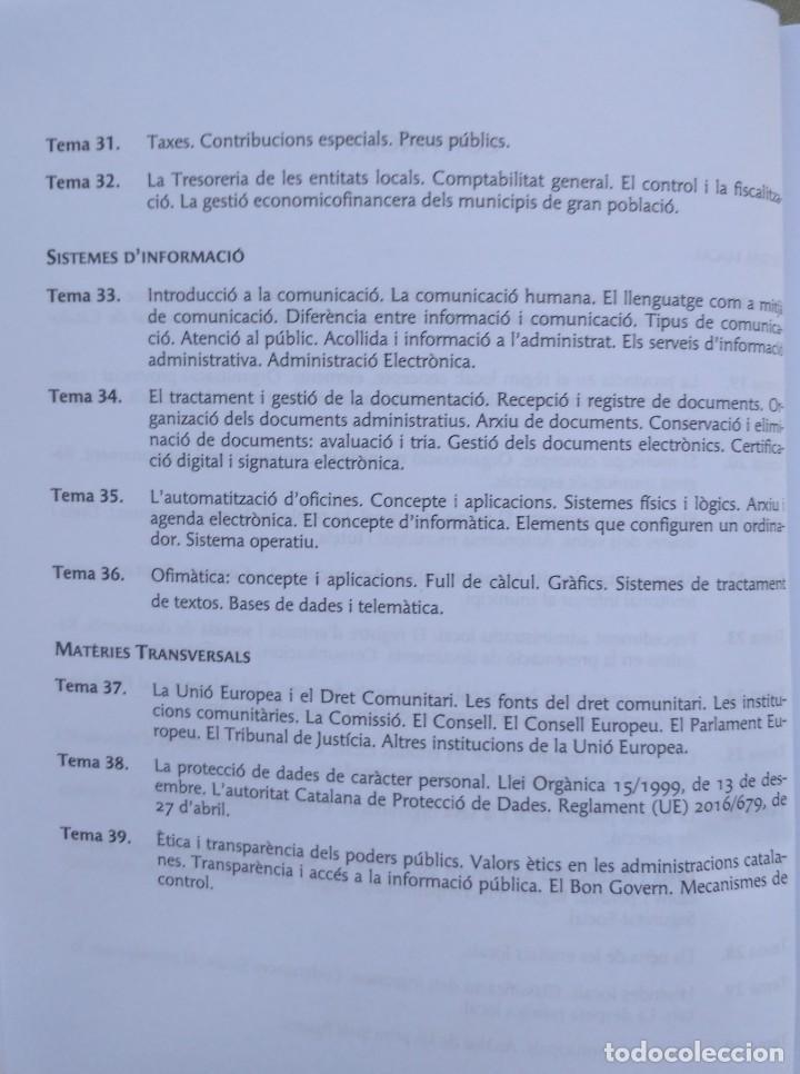 Libros: AUXILIARS ADMINISTRATIUS: CORPORACIONS LOCALS. TEMARI 1 Y 2 - Foto 6 - 243765365