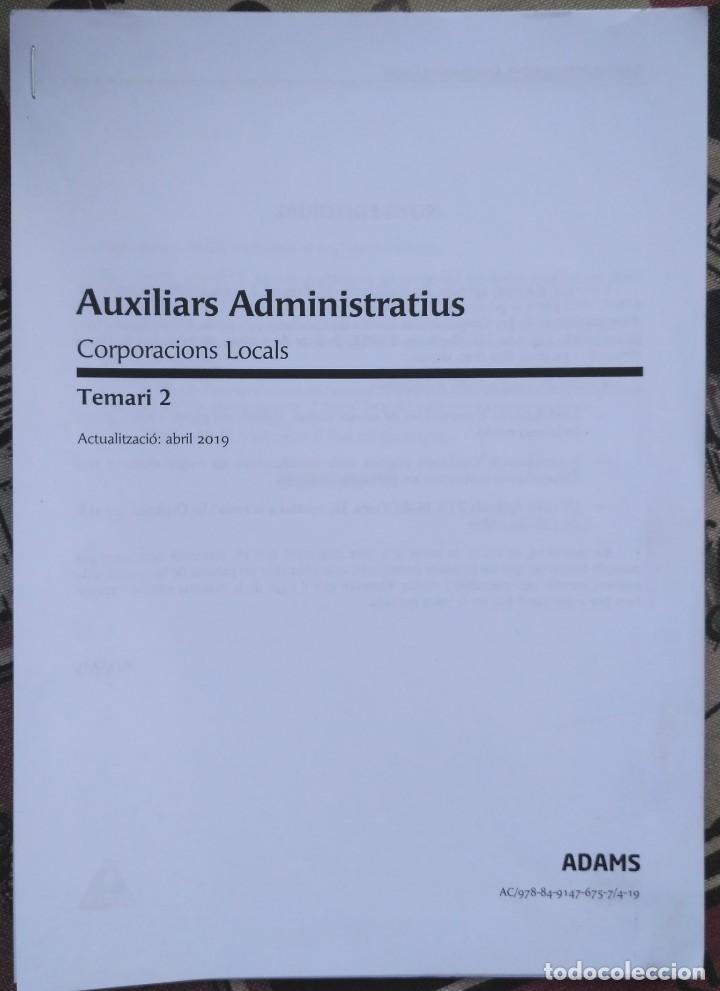 Libros: AUXILIARS ADMINISTRATIUS: CORPORACIONS LOCALS. TEMARI 1 Y 2 - Foto 7 - 243765365