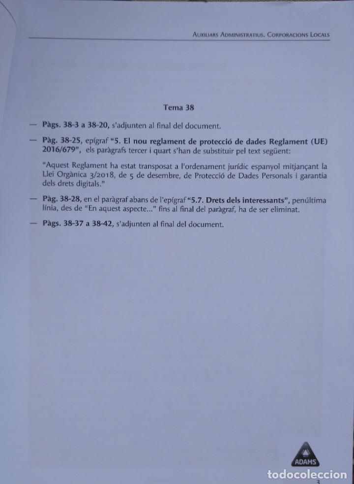 Libros: AUXILIARS ADMINISTRATIUS: CORPORACIONS LOCALS. TEMARI 1 Y 2 - Foto 8 - 243765365