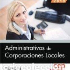 Libros: ADMINISTRATIVOS DE CORPORACIONES LOCALES. TEST VOL. II. Lote 196592182