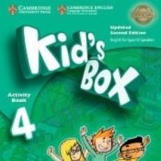 Libros: KIDS BOX LEVEL 4. ACTIVITY BOOK WITH CD ROM AND MY HOME BOOKLET UPDATED ENGLISH FOR SPANISH. Lote 197539246