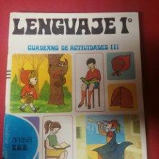 Livres: LIBRO LENGUAJE 1 E.G.B. ANAYA AÑO 1971. Lote 197566257