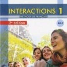 Libros: INTERACTIONS 1 - A1.1 - LIVRE + CD - 2º EDITIÓN. Lote 198892127