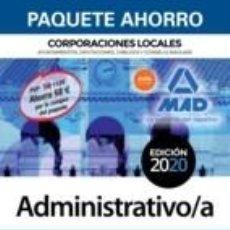 Libros: PAQUETE AHORRO ADMINISTRATIVO DE CORPORACIONES LOCALES. Lote 199104161