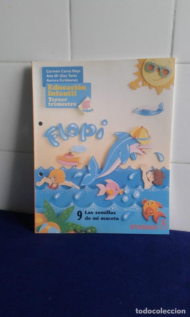 EDUCACIÓN INFANTIL, TERCER TRIMESTRE Nº 9, 5 AÑOS FLOPI, EJERCICIOS SIN HACER.EDITORIAL EVEREST (Libros Nuevos - Libros de Texto - Infantil y Primaria)