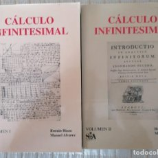 Libros: CÁLCULO INFINITESIMAL.- 2 VOLS.- ROMÁN RIAZA, MANUEL ALVÁREZ.-. Lote 202472402