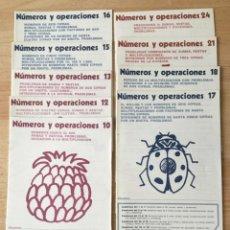 Libros: NÚMEROS Y OPERACIONES. LOTE DE 9 NÚMEROS. NUEVOS SIN USAR.. Lote 203988398