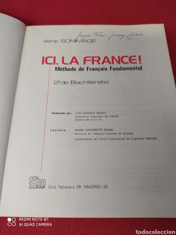 Libros: LIBRO DE 2°DE BACHILLERATO ICI. LA FRANCE - Foto 2 - 203988682