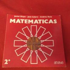 Libros: LIBRO DE MATEMÁTICAS 2°ANAYA. Lote 203989726