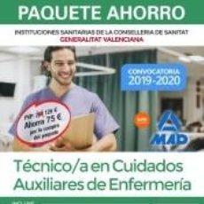 Libros: PAQUETE AHORRO TÉCNICO/A EN CUIDADOS AUXILIARES DE ENFERMERÍA DE INSTITUCIONES SANITARIAS DE LA. Lote 206162897