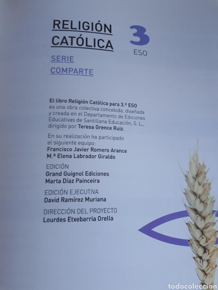 Libros: LIBRO DE TEXTO. 3 ESO.RELIGION CATOLICA.SERIE COMPARTE.SANTILLANA. - Foto 2 - 208443963