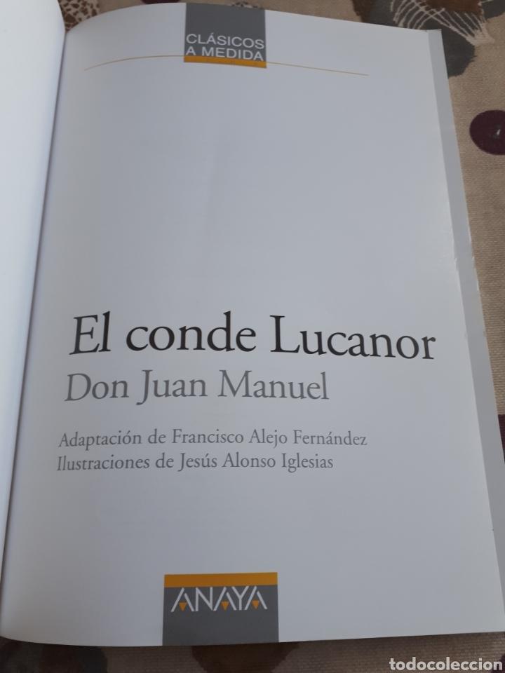 Libros: LIBRO.EL CONDE DE LUCANOR.CLASICOS A MEDIDA.ANAYA. ESO. LIBRO NUEVO.CON TEXTO E ILUSTRACIONES. - Foto 3 - 208444807
