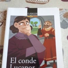 Libros: LIBRO.EL CONDE DE LUCANOR.CLASICOS A MEDIDA.ANAYA. ESO. LIBRO NUEVO.CON TEXTO E ILUSTRACIONES.. Lote 208444807