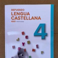 Libros: REFUERZO LENGUA CASTELLANA 4º ESO - ALMADRABA. Lote 211649695