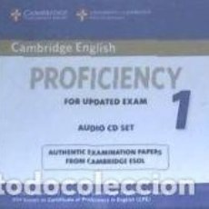 Libros: CAMBRIDGE ENGLISH PROFICIENCY 1 FOR UPDATED EXAM AUDIO CDS (. Lote 211794123