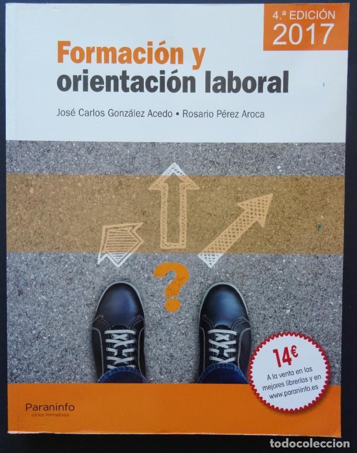 FORMACIÓN Y ORIENTACIÓN LABORAL – GONZÁLEZ ACEDO, PÉREZ AROCA – PARANINFO, 2017 (Libros Nuevos - Libros de Texto - ESA)