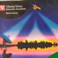 Libros: CIENCIAS SOCIALES GEOGRAFIA EDUCACION SECUNDARIA TERCER CURSO VICENS VIVES. Lote 217412707