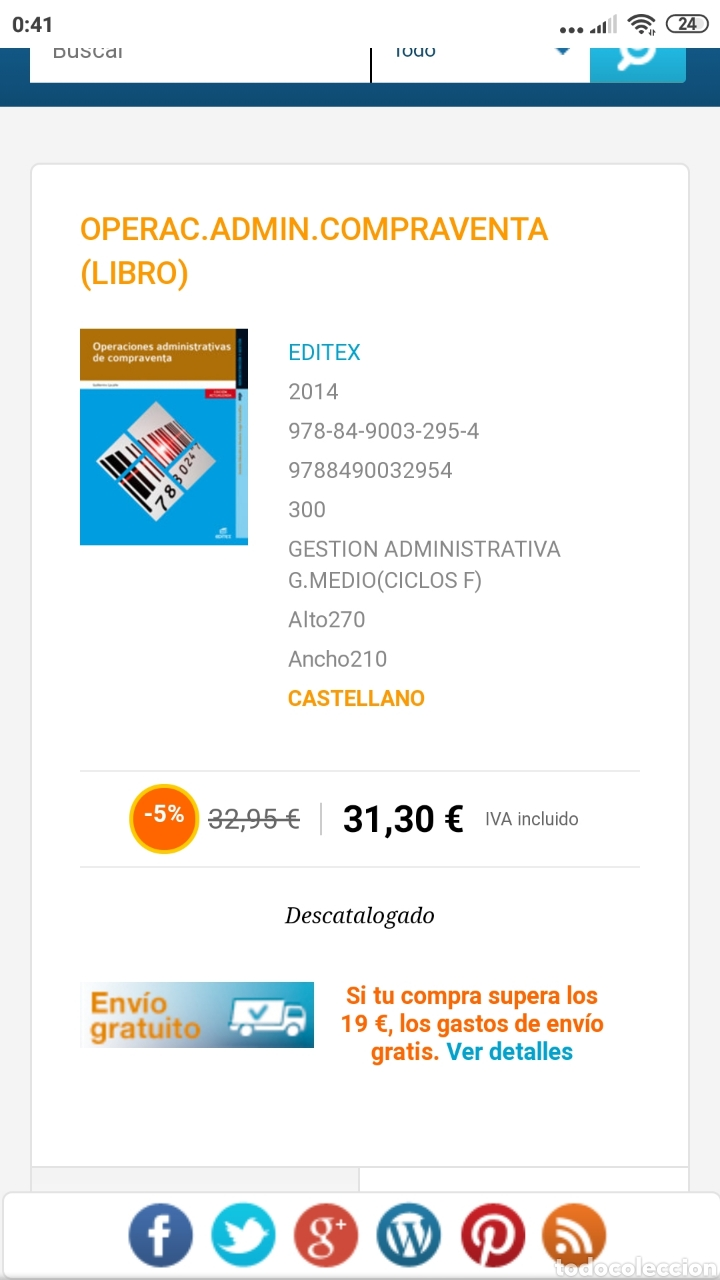 Libros: Operaciones administrativas de compraventa. Editex 2014. Administración y gestión - Foto 9 - 217560363