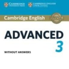 Libros: CAMBRIDGE ENGLISH ADVANCED 3. STUDENTS BOOK WITHOUT ANSWERS. Lote 217786943