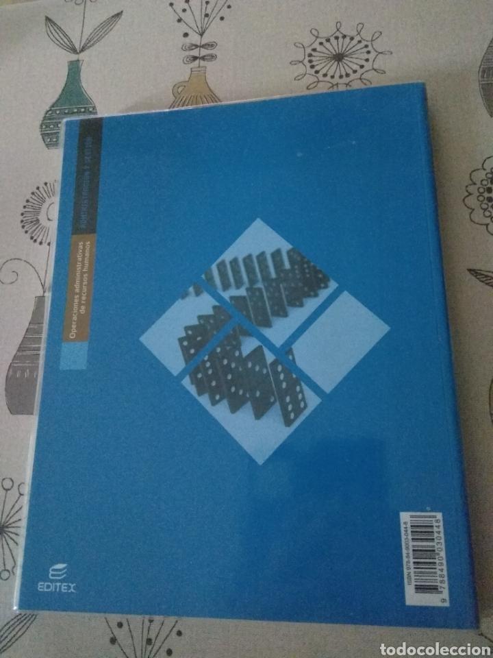 Libros: Operaciones administrativas de recursos humanos. Administración y gestión. Editex 2012. Lacalle - Foto 2 - 219137401
