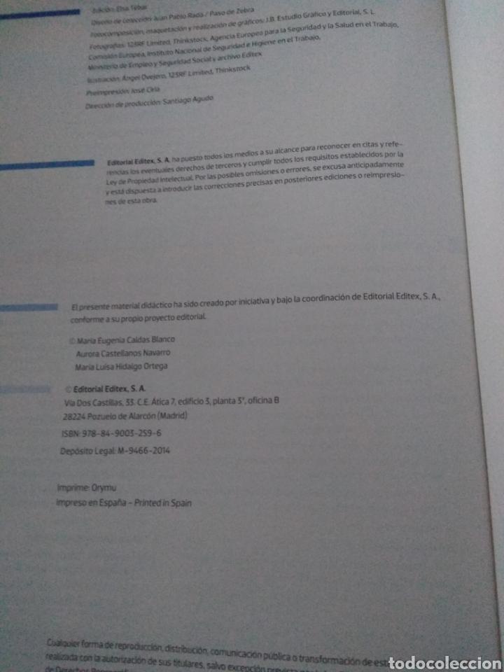 Libros: Formación y orientación laboral. Editex 2014. Ciclos formativos grado medio - Foto 9 - 219223032