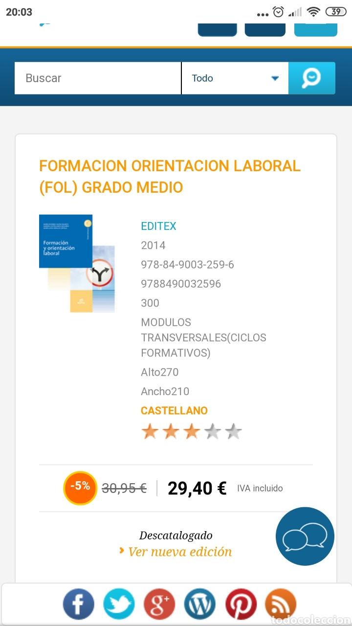 Libros: Formación y orientación laboral. Editex 2014. Ciclos formativos grado medio - Foto 11 - 219223032