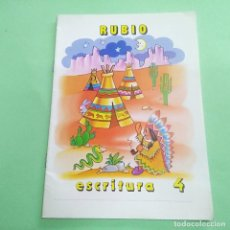 Libros: CUADERNOS RUBIO ESCRITURA DEL 4 - AÑOS 80 - A ESTRENAR. Lote 219311880