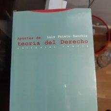 Libros: APUNTES DE TEORÍA DEL DERECHO.LUIS PRIETO SANCHIS. Lote 220098743