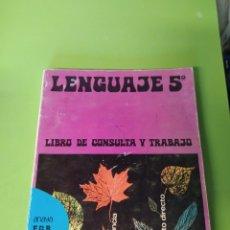 Libros: LIBRO DE LENGUAJE 5 E. G. B ANAYA. Lote 221634687