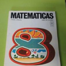 Libros: LIBRO DE MATEMÁTICAS 8 EGB. Lote 221637338
