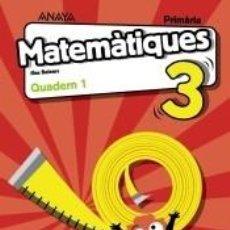 Libros: MATEMÀTIQUES 3. QUADERN 1.. Lote 221640782
