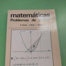 Libros: LIBRO MATEMÁTICAS 3 BUP. Lote 222055255