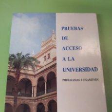 Libros: LIBRO PRUEBAS DE ACCESO A LA UNIVERSIDAD. Lote 222056702