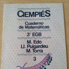 Libros: CIENPIES. CUADERNO MATEMÁTICAS 3°EGB N 3. NUEVO. Lote 222192985