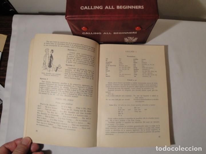 Libros: Libro y casetes originales (4): Calling all Beginers. Curso de Inglés. Editorial Alhambra, 1971. - Foto 3 - 222261165