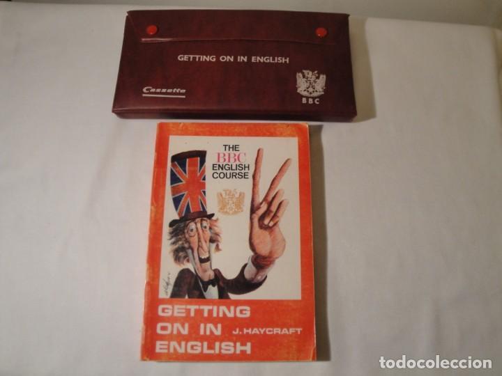 LIBRO Y CASETES ORIGINALES (3): GETTING ON IN ENGLISH. CURSO DE INGLÉS. EDITORIAL ALHAMBRA, 1971. (Libros Nuevos - Libros de Texto - Bachillerato)