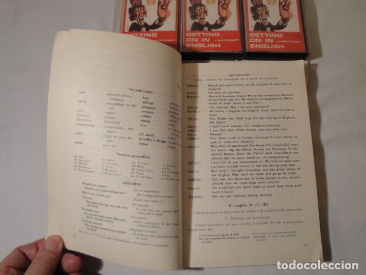 Libros: Libro y casetes originales (3): Getting on in English. Curso de Inglés. Editorial Alhambra, 1971. - Foto 3 - 222262946