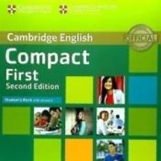 Libros: COMPACT FIRST, STUDENTS BOOK WITH ANSWERS WITH CD-ROM. Lote 222423282