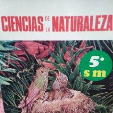 Libros: CIENCIAS DE LA NATURALEZA-5° DE EDUCACIÓN GENERAL BÁSICA,EDITA S.M-1971,. Lote 223078997