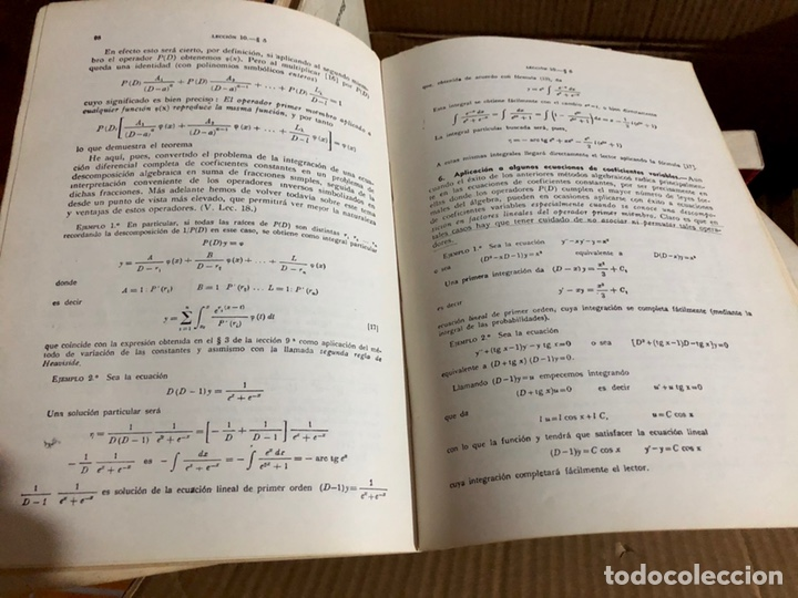 Libros: ECUACIONES DIFERENCIALES aplicado a la física y técnica. Puig Adam - Foto 2 - 223274088