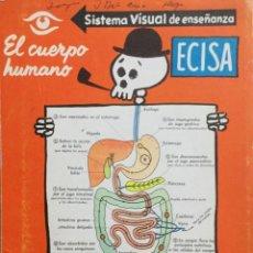 Libros: EL CUERPO HUMANO. SISTEMA VISUAL DE ENSEÑANZA.. Lote 225867640