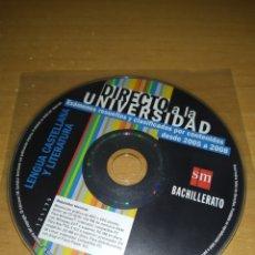 Libros: DIRECTO A LA UNIVERSIDAD. LENGUA CASTELLANA Y LITERATURA. EXÁMENES 2005-08.SM BACHILLERATO.. Lote 228757332