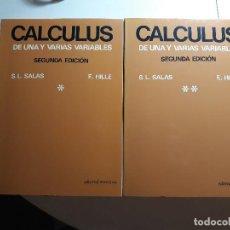 Libros: CALCULUS (2ª ED.) - S.L. SALAS Y E. HILLE - EDITORIAL REVERTÉ. Lote 234731910