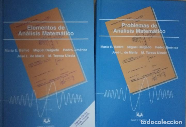 ELEMENTOS DE ANÁLISIS MATEMÁTICO Y PROBLEMAS (2 VOLS.) SANZ Y TORRES. UNED. VV.AA. (Libros Nuevos - Libros de Texto - Ciclos Formativos - Grado Superior)