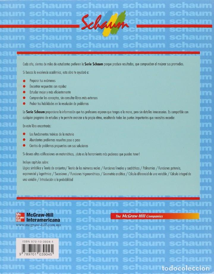 Libros: INTRODUCCIÓN A LAS MATEMÁTICAS UNIVERSITARIAS. Schaum McGraw Hill. Wisniewski y Gutiérrez Banegas - Foto 2 - 235508440