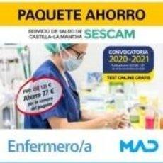 Libros: PAQUETE AHORRO Y TEST ONLINE GRATIS ENFERMERO/A DEL SERVICIO DE SALUD DE CASTILLA-LA MANCHA (SESCAM). Lote 236555380