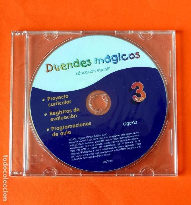 EDUCACIÓN INFANTIL - DUENDES MÁGICOS - 3 AÑOS - CD-ROM - ALGAIDA, 2004 - ANAYA - NUEVO (Libros Nuevos - Libros de Texto - Infantil y Primaria)