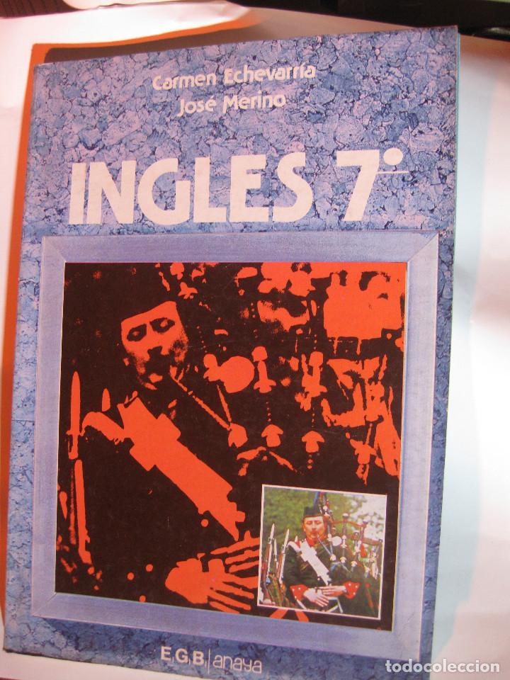 LIBRO TEXTO ESCOLAR ESCUELA 7º EGB INGLES ANAYA. ECHEVARRIA MERINO1984 NUEVO SIN USO (Libros Nuevos - Libros de Texto - Infantil y Primaria)