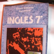 Libros: LIBRO TEXTO ESCOLAR ESCUELA 7º EGB INGLES ANAYA. ECHEVARRIA MERINO1984 NUEVO SIN USO. Lote 240951800