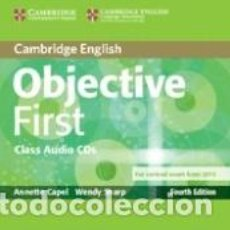 Libros: OBJECTIVE FIRST CLASS AUDIO CDS (2) 4TH EDITION. Lote 241659670